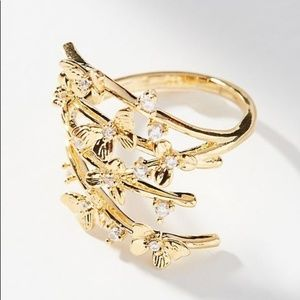 |anthropologie| butterfly ring